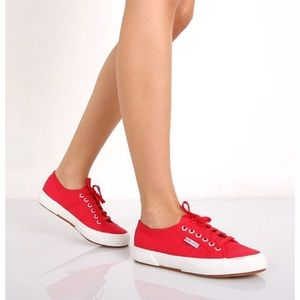 Superga red sneakers size 9 new with tags